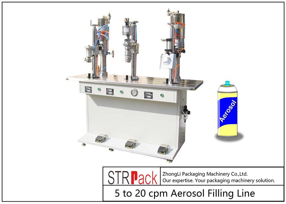 Máy chiết rót aerosol bán tự động