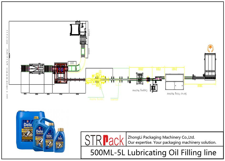 Dây chuyền nạp dầu bôi trơn 500ML-5L tự động