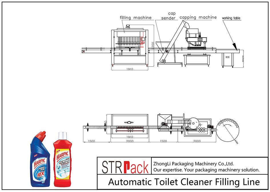 Dây chuyền làm sạch nhà vệ sinh tự động