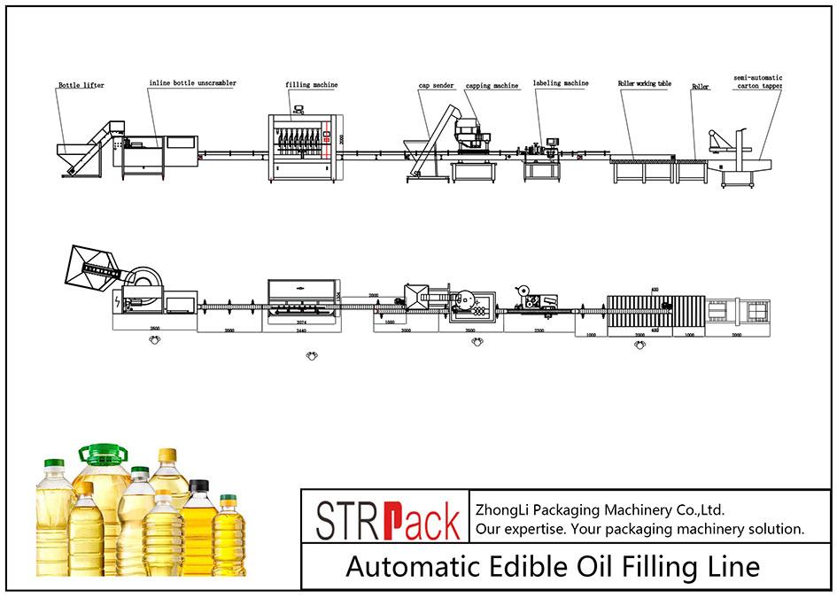 Dây chuyền chiết rót dầu ăn tự động